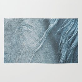 Wild horse photography, fine art print of the mane, for animal lovers, home decor Rug