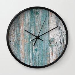 Old wood vintage background Wall Clock