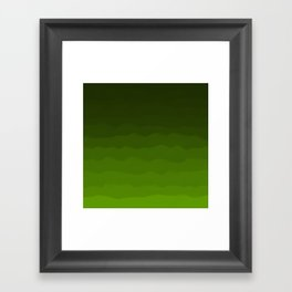 Dark Rich Forest Green Ombre Framed Art Print