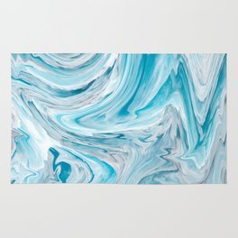 Icy Blue - Liquify Series Rug