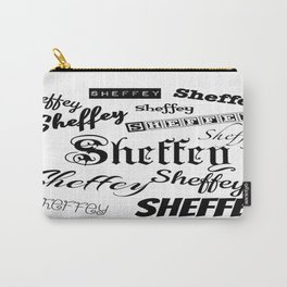 Sheffey Fonts in Black Carry-All Pouch