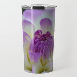 purple dahlia portrait Travel Mug