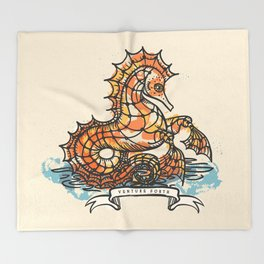 VENTURE FORTH Throw Blanket