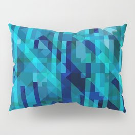 abstract composition in blues Pillow Sham