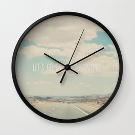 lets go on an adventure ... Wall Clock