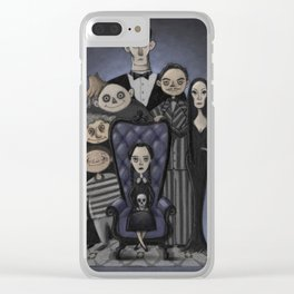 The Addams Family Clear iPhone Case