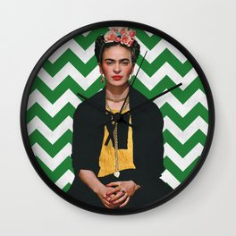 Frida Kahlo Photography I Wall Clock