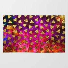 Triangles golden foil Rug