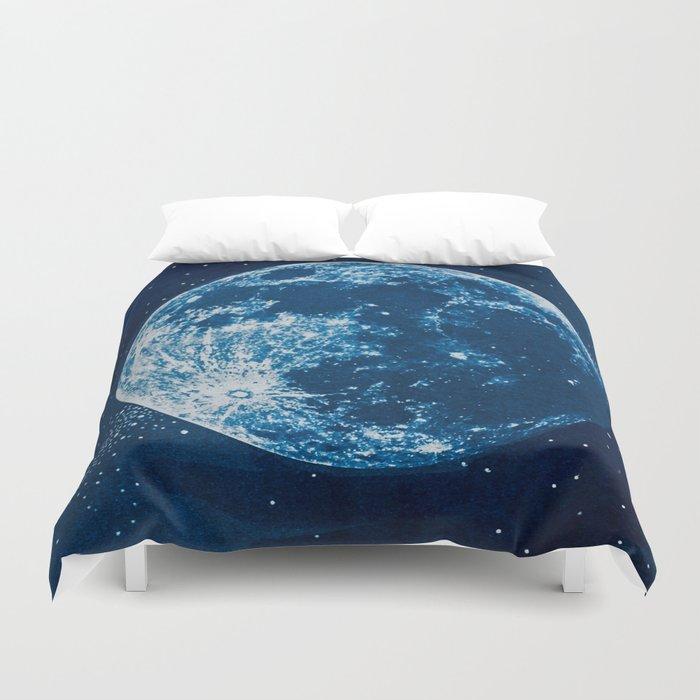 Big Blue Moon Duvet Cover