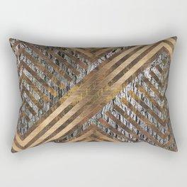 Geometric Wooden texture pattern Rectangular Pillow