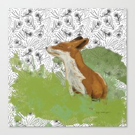 Sunning Fox Canvas Print