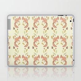 Red squirrel pattern Laptop & iPad Skin
