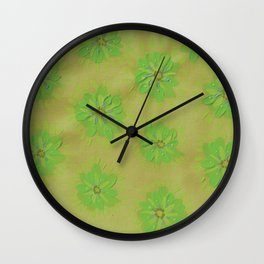 Olive Petal Rose Wall Clock
