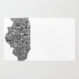 Typographic Illinois Rug