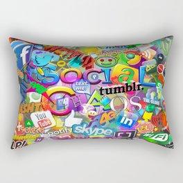 Social Chaos Rectangular Pillow