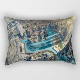 On top of the world, Burj Khalifa, Dubai, UAE Rectangular Pillow