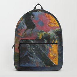 Upa Upa (The Fire Dance) by Paul Gauguin Backpack