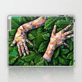 Hands Through Leaves - Brandie Lee - Geometric Shapes - Digital Garden of Eden Laptop & iPad Skin