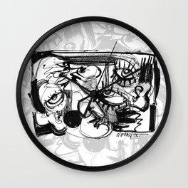 Chit-Chat - b&w Wall Clock