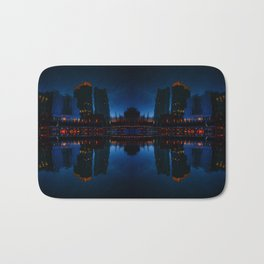Nocturnal Reflection of a City Bath Mat