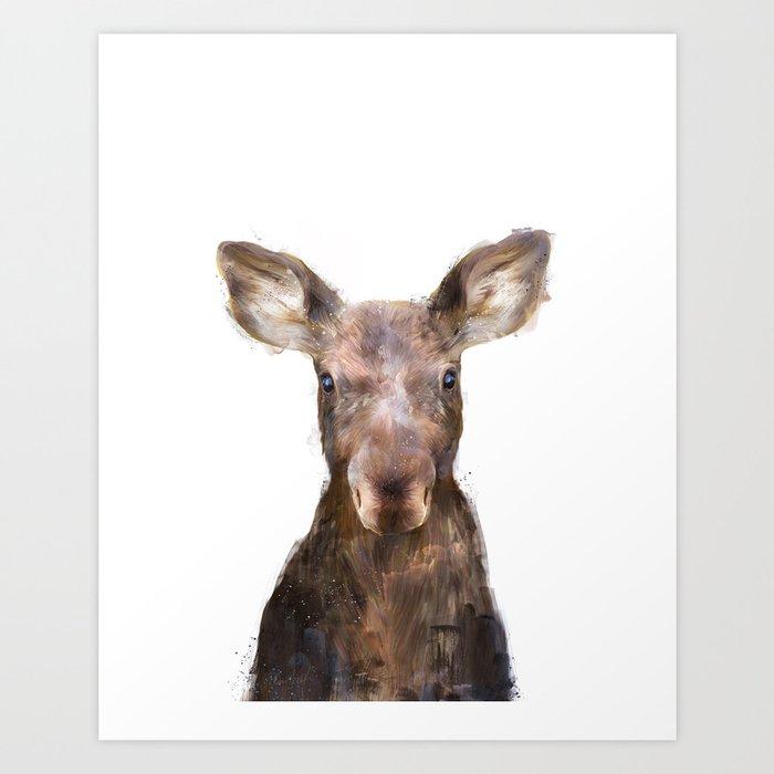 Sunday's Society6 | Little animal moose art print