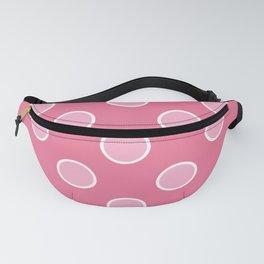 Geometric Orbital Pretty Pink Candy Dot Circles Fanny Pack
