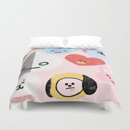 BTS21 Characters in Pastel Duvet Cover
