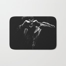 The Weeknd Abel Makkonen portrait Bath Mat
