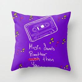 Cassette Throw Pillow