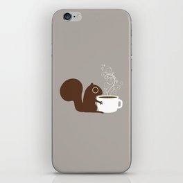 Squirrel Coffee Lover iPhone Skin