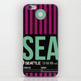 SEA Seattle Luggage Tag 2 iPhone Skin