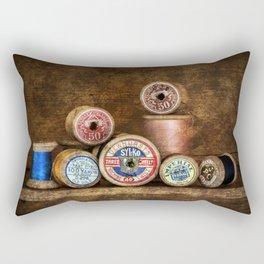 Old Cotton Bobbins Rectangular Pillow