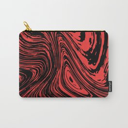 Red and black marble pattern Carry-All Pouch