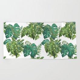 A Pattern of Plants Beach Towel
