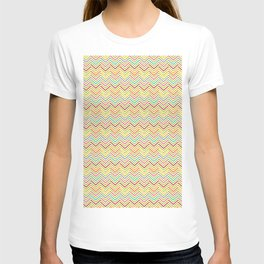 Colorful abstract modern geometrical chevron pattern T-shirt