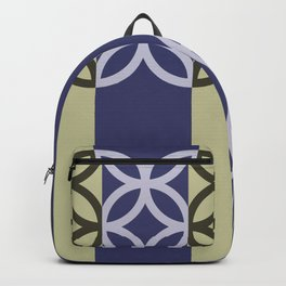 Striped Circles Pattern Backpack