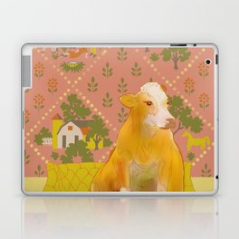 Farm Animals in Chairs #1 Cow Laptop & iPad Skin