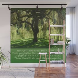 How Still the Tree Photograph and Prose Wall Mural
