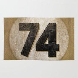 Vintage Auto Racing Number 74 Rug