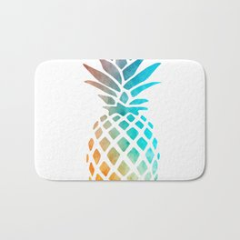 Watercolor Pineapple Bath Mat