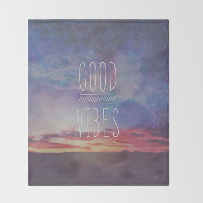 good vibes, good days Throw Blanket