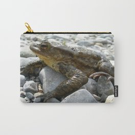 Bufo Bufo Toad Lounging On Stones Carry-All Pouch