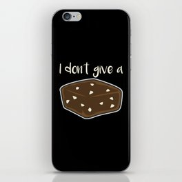 I Don't Give A Fudge iPhone Skin