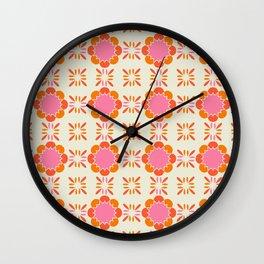 Sixties Tile Wall Clock