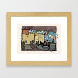Beach Cop Detectives 21- The Diner Framed Art Print