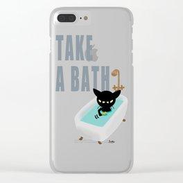 Bath Time Clear iPhone Case