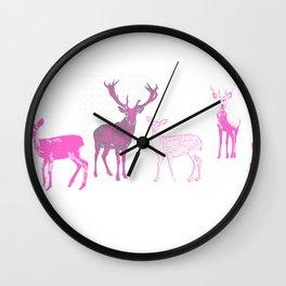 oh deer pink II Wall Clock