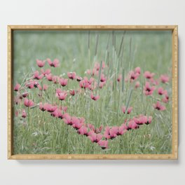 A Heart of Poppy nature pattern Serving Tray