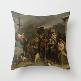 fire in the Sabine mountains Throw Pillow