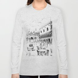 Sketch of San Marco Square in Venice Long Sleeve T-shirt